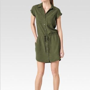 Paige Mila Shirtdress in Desert Olive